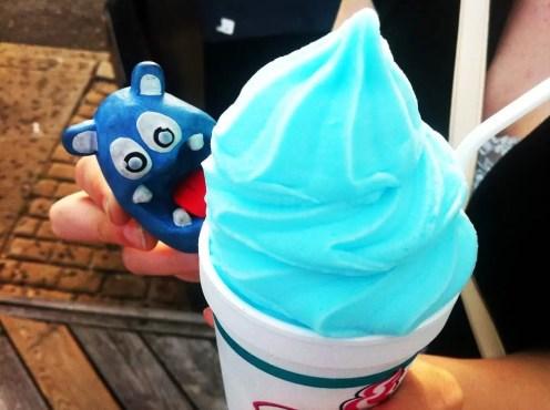 Cotton Candy Frozen Yogurt from Dumsers Ice Cream Ocean City