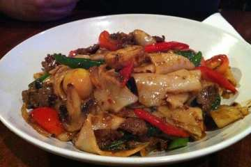 Drunken Noodles from Sabai Sabai Simply Thai