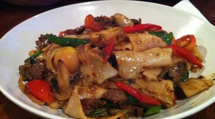 Drunken Noodles from Sabai Sabai Simply Thai