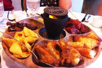 Flaming Poo Poo Plater from China Garden