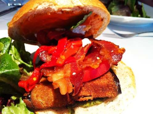 Fried Eggplant Sandwich $10 @ Urbana Dupont Circle