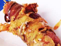 Double Bacon Brat $3 @ Ram's Head Tavern at Bacon Festival