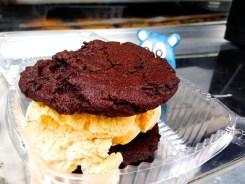 Nutella Pumpkin Ice Cream Sandwich @ Captain Cookie Food Truck