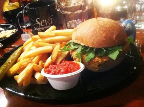 Pumpkin Burger from Seva