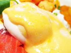 Smoked Salmon Eggs Benedict from Cafe Deluxe