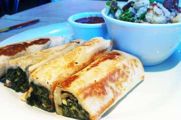 Spinach Roll from Zoes Kitchen