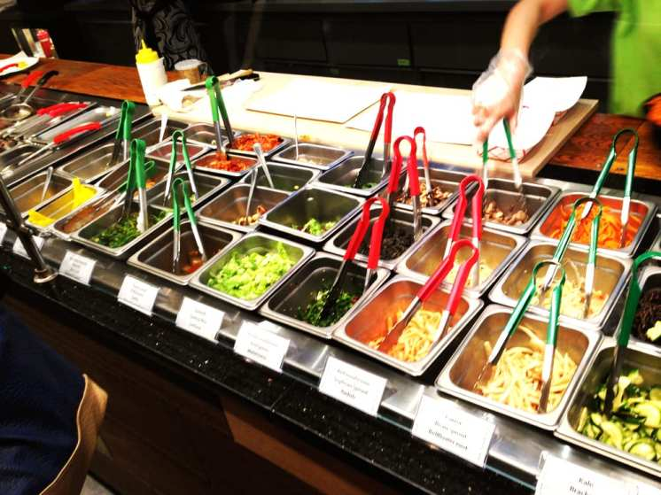 Different toppings at Triple B Fresh