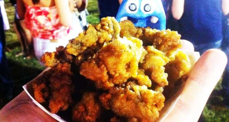 Fried Oysters from Fiesta Oyster Bake San Antonio Texas