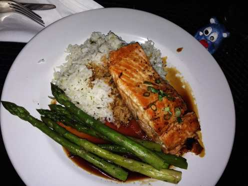 Soy Ginger Salmon @ Union Jack's Rio