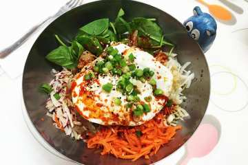 Chicken Super Bibimbap $10 @ Soul Food Wheaton