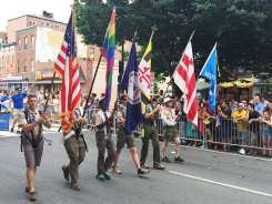 Boy Scout Honor Guard at Capital Gay Pride 2015
