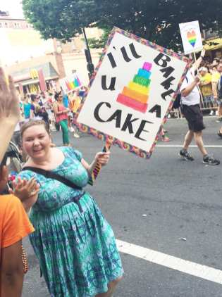 Gay Cake at Capital Gay Pride 2015