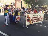 New York City's Lesbian & Gay Big Apple Corps Marching Band at Capital Gay Pride 2015