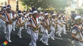New York City's Lesbian & Gay Big Apple Corps Marching Band at Capital Gay Pride 2015