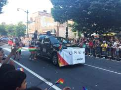 Uber Float at Capital Gay Pride 2015