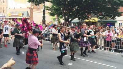 Scottish Bagpipes at Capital Gay Pride 2015