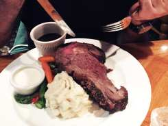 Oak Smoked Prime Rib Steak $32 @ Harris Ranch Selma California