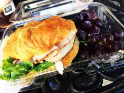 Roasted Turkey Brie Croissant Sandwich @ Gourmet Grab & Go Los Angeles California
