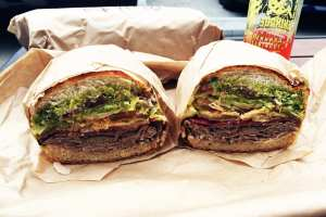 Kryptonite Sandwich $24 @ Ike's Lair in Redwood City California