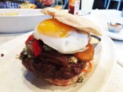 English Muffin Blue Cheese Burger @ Counter in Reston Town Center, Virginia
