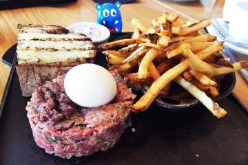 Steak Tartare & Fries @ Urban Butcher in Down Town Silver Spring