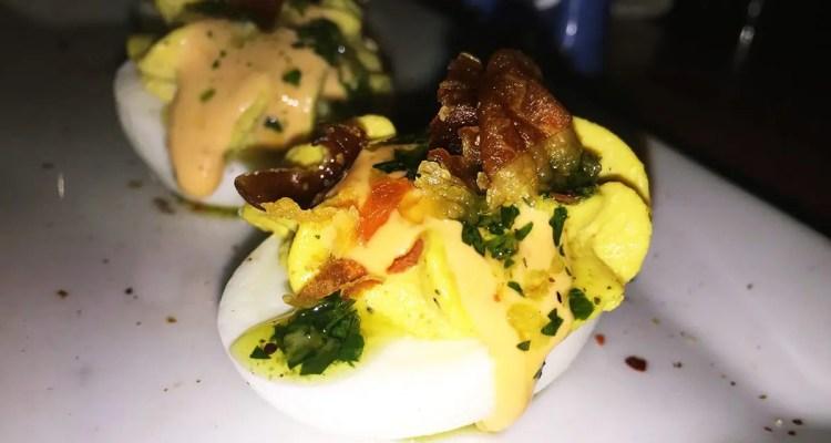 Vadouvin Deviled Eggs $8 @ Dino's Grotto on U Street in Washington DC