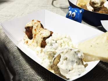 Crab Cake & Greek Balls @ 8 Ball Meatball at Emporiyum Food Market in Baltimore
