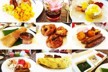 Le Jardin Breakfast Buffet at Oberoi Hotel in Bangalore India
