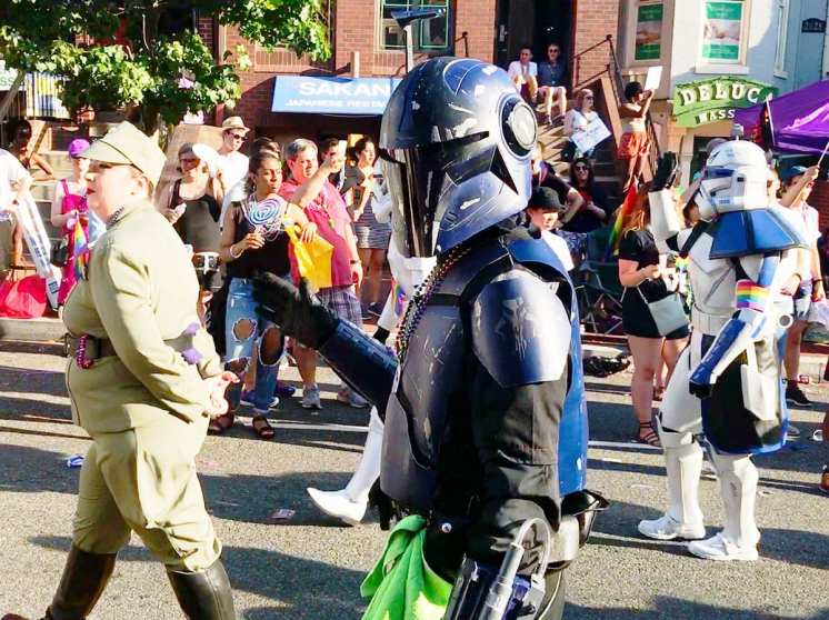 Mandalorian Mercs Costume Club @ Capital Pride Parade 2017