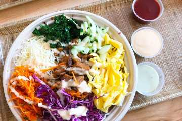 Bibimbap Rice and Noodles Mix Bowl @ Bibibop Asian Grill