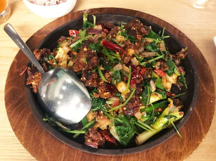 Crispy Diced Beef from Q by Peter Chang