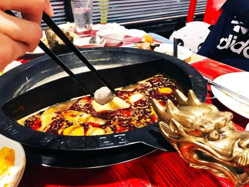 Time to Drop Our Food @ Hot Pot Legend