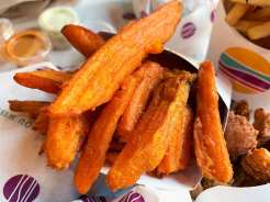 Sweet Potato Fries at PLNT Burger