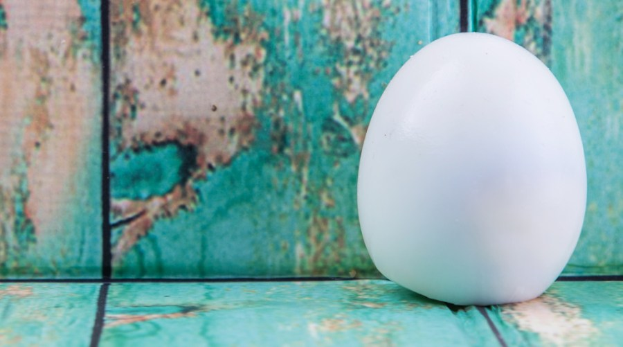 egg air bubble peeled