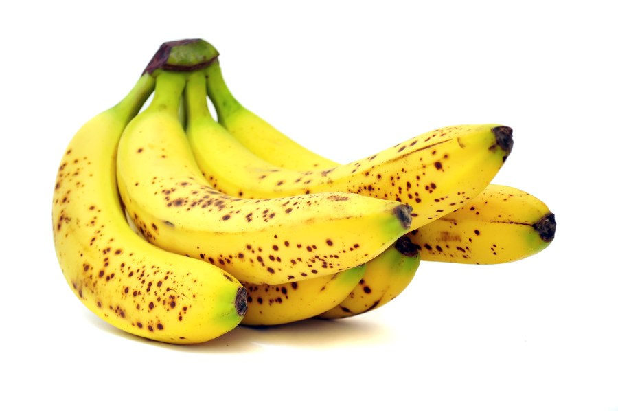 bananas with melanin brown pigment spots