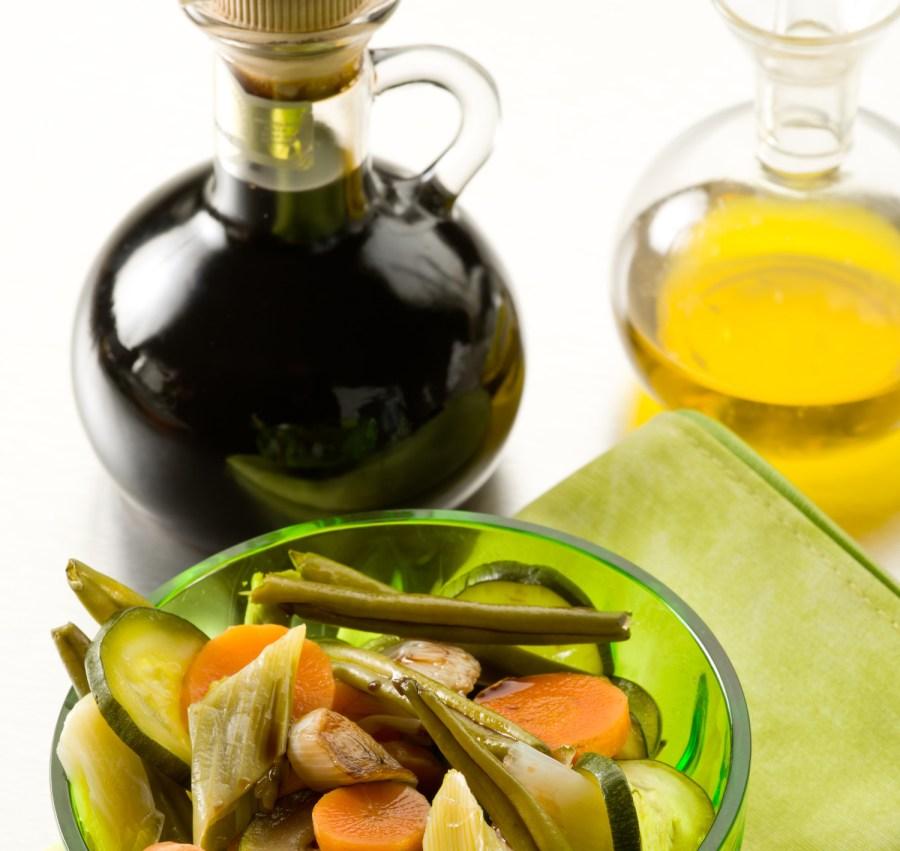 chlorophyll and acids - vinegar dressing