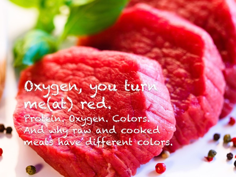 raw meat and myoglobin