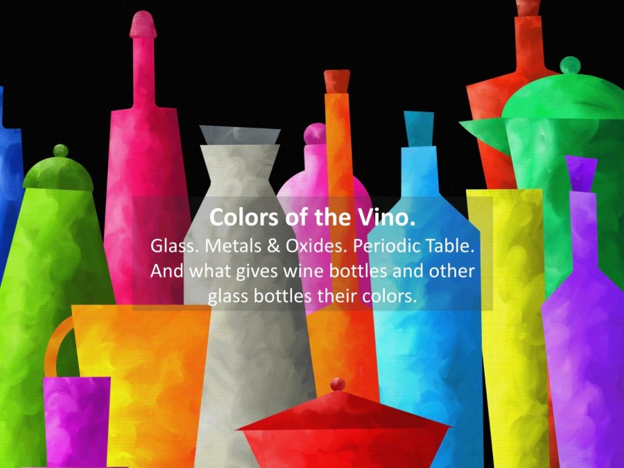 colored bottles for wine