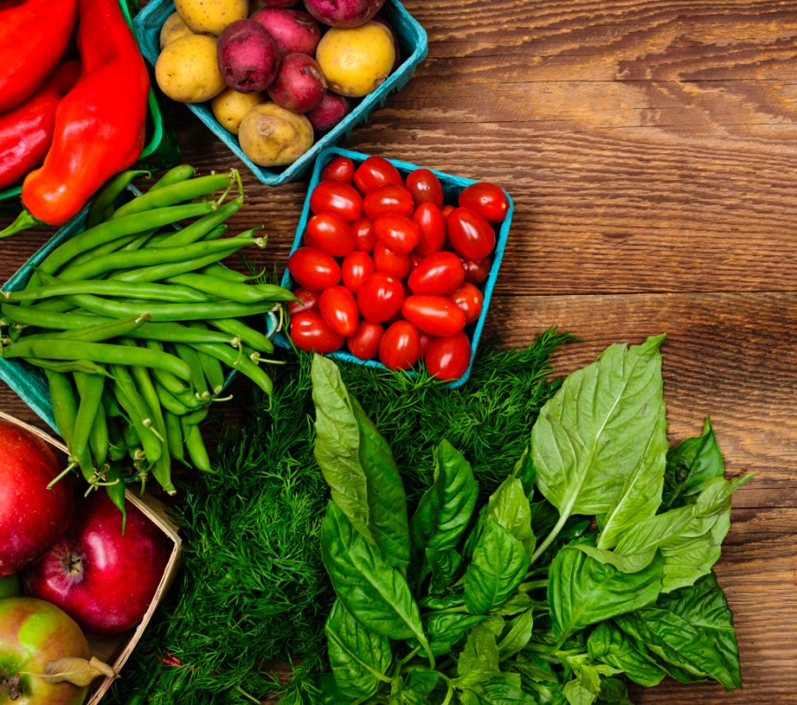 fresh fruits and vegetables - have naturally occuring phytochemicals