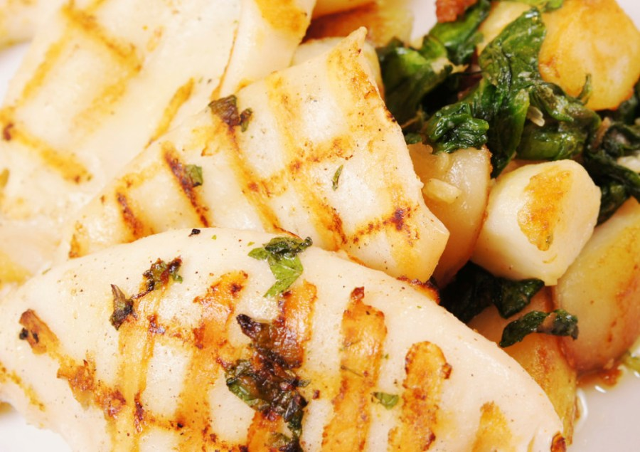 squid - grilled - with score marks