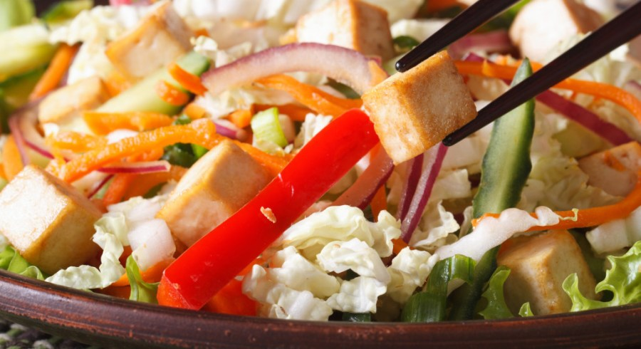 A pair of chopsticks can be used to prepare food too, such as tossing a salad