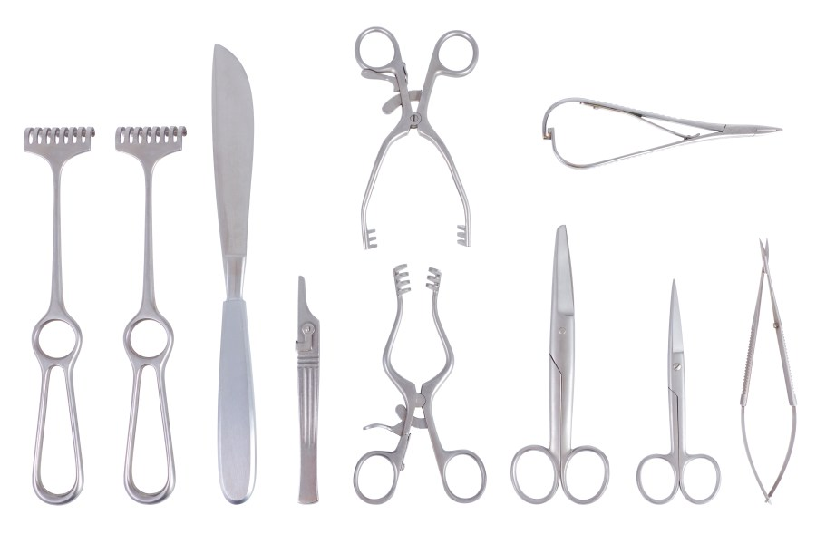 Surgical instruments and other medical devices can be sterilized by gamma radiation