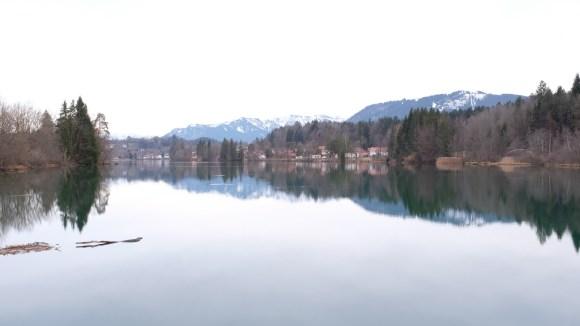 Bad Tölz, Isarstausee Tölz, und Blomberg