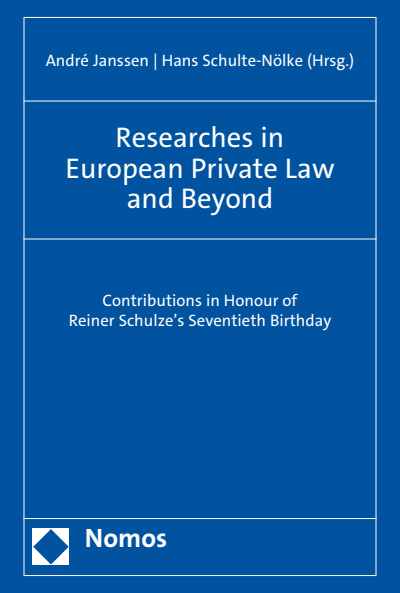 researches in european private law and