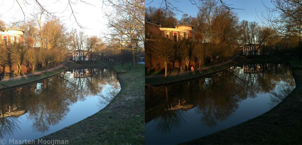 Before and After Lighting iPhone