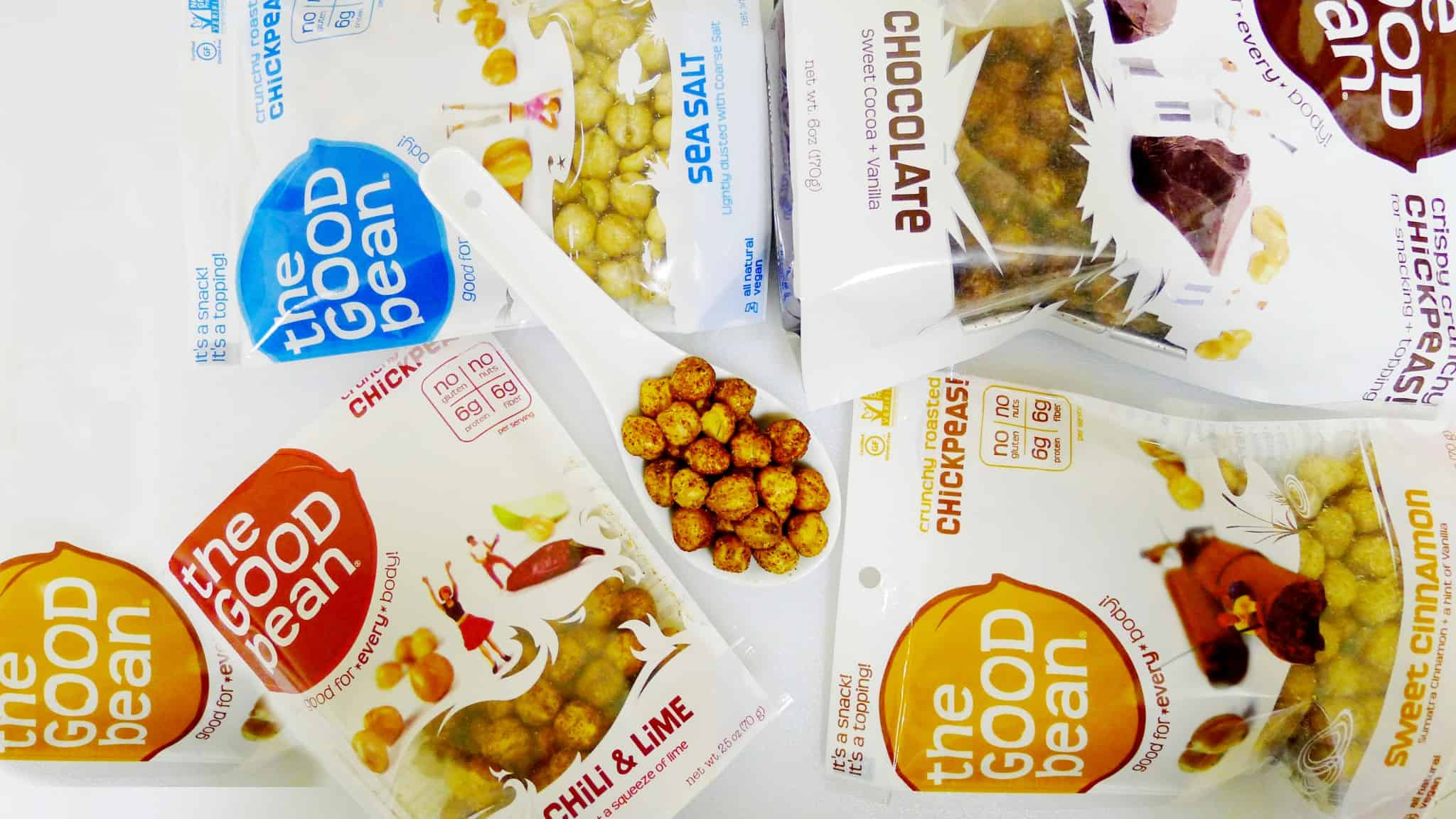 The Good Bean Chickpea Healthy Snacks on the Go
