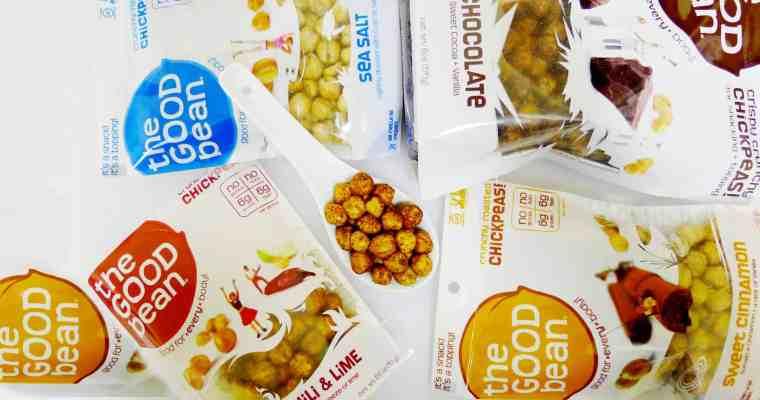 The Good Bean Chickpea Healthy Snacks on the Go