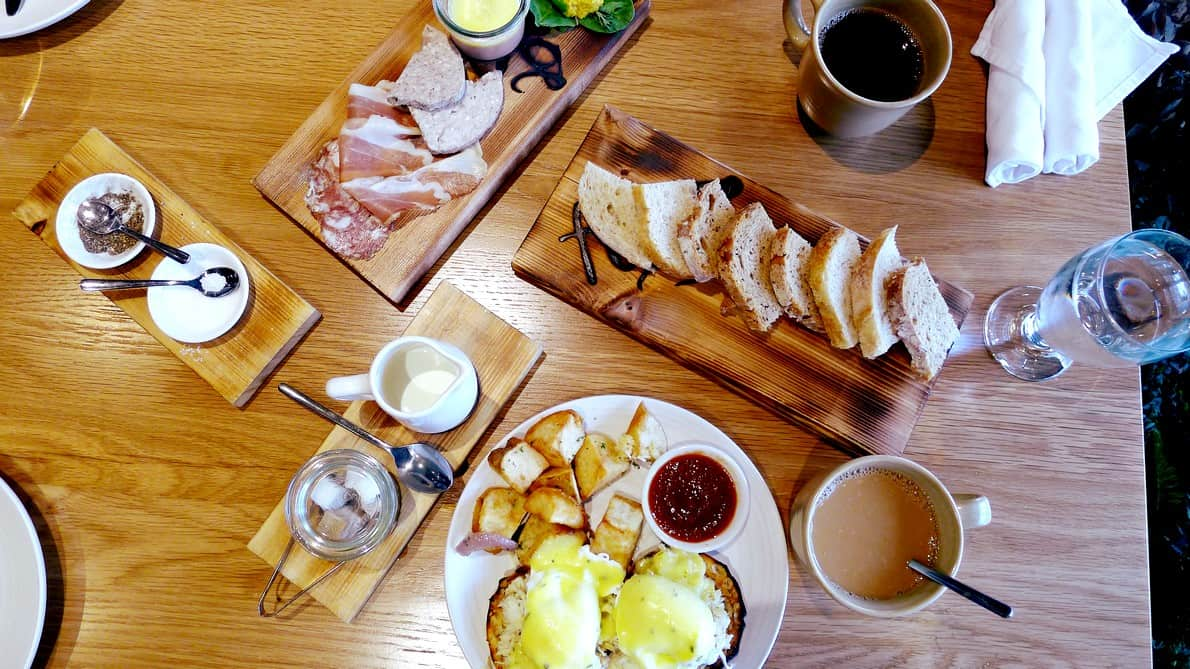 Forage Vancouver Brunch, Downtown Listel Hotel | Charcuterie and Seafood Egg Benny