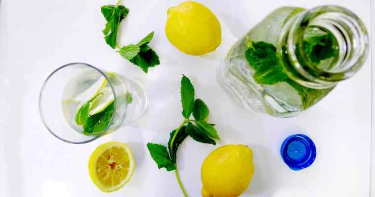 Fresh Mint Lemon Water | Refreshing Summer Flavored Water Recipe