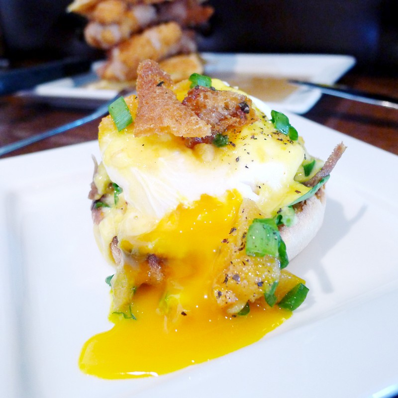 Yolks Breakfast Vancouver East Hastings Instanomss Nomss Brunch Eggs Benedict Fried Chicken Waffles
